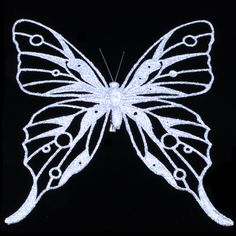 laser etched butterfly.
