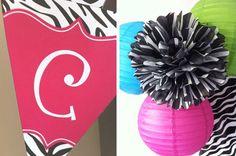 Zebra party: Chloe is 1! | Chickabug