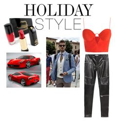 """""""Holiday Style: Leather Pants"""" by slim-thick ❤ liked on Polyvore featuring Zara, Zimmermann and Ferrari"""