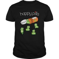 Happy Pills Frog T Shirt - Happy Pills Frog T Shirt, birthday gift idea, perfect gifts for men, women, son, kids, Irish t shirt, gifts for Saint Patricks Day , Saint Patrick t shirt,  #Frog #Frogshirts #iloveFrog # tshirts