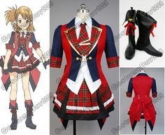 I have never seen the cartoon this is from BUT I think this costume is so cute!!!  AKB0048 Yuuko Oushima the 9th Cosplay Costume Outfit Shoes Boots Custom Made
