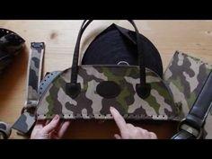 Tutorial zaino in fettuccia con patella mimetica   come lavorare una base ovale in pelle - YouTube