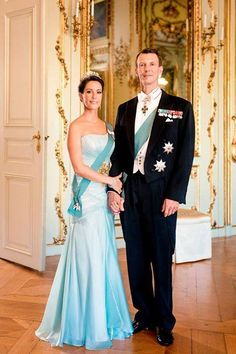 New official photo of Princess Marie and Prince Joachim of Denmark.