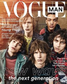 Vogue Man @VogueMan_NL issue 4 hits stores today  with the latest crop of Dutch male models an interview with @thuggerthugger1 aka Young Thug by Freddy - @Vjezla - Tratlehner the best of men's fashion everything on the art of living and much more  @deMarcdeGroot styling @MrvanHeel grooming @IrenaRuben link in bio  #VogueMan  via VOGUE HOLLAND MAGAZINE OFFICIAL INSTAGRAM - Fashion Campaigns  Haute Couture  Advertising  Editorial Photography  Magazine Cover Designs  Supermodels  Runway Models