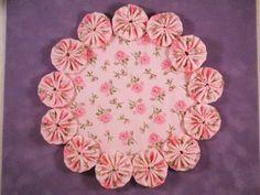 Spring Pink Shabby Chic Rose Yo Yo Doilypenny rug by SursyShop, $8.00