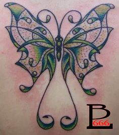 Feather Tattoo Designs: Fibromyalgia butterfly tattoo design