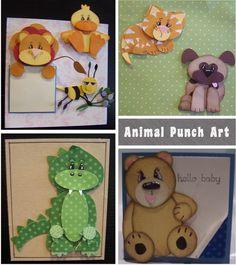 Stampin' Up! Animal Punch Art.