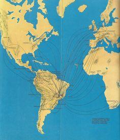 VARIG route map