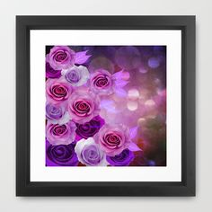 Rose Glow Abstract Framed Art Print