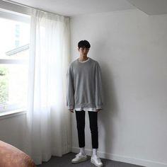 Korean Fashion Teen, Korean Fashion Winter, Korean Fashion Dress, Korean Street Fashion, Asian Fashion, Denim Fashion, Boy Fashion, Fashion Outfits, Streetwear Fashion