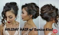 french twist updo for prom or wedding