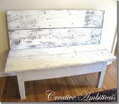 Barn board bench fun little piece