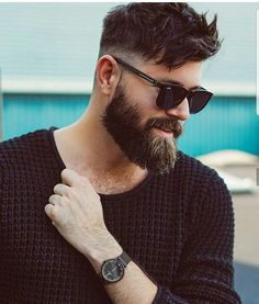 Best full beard styles for men. Know everything about growing full beards naturally, trimming and grooming tips, and more full grown beard inspirations! Beard Styles For Men, Hair And Beard Styles, Long Hair Styles, Beards And Hair, Facial Hair Styles, Short Hair And Beard, Short Beard Styles, Skin Fade With Beard, Shaved Head With Beard