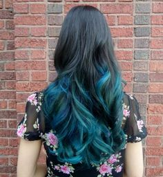 Black to Blue Ombre Hair. THIS. IS. WHAT. I. WANT.