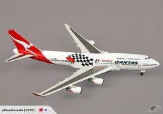 "QANTAS Boeing 747-400 ""Grand Prix"" ~ 1/500 Herpa | Trade Me"