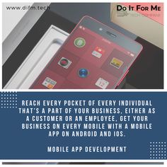 Let your #business reach every pocket of every individual that's a part of your #business, either as a #customer or an #employee, get your #business on every #mobile with a #mobileapp on #android and #iOS.  #difmtech #difm #difmgroup #doitforme #serviceindustry #services #clients #leads #socialtech #techservices #techforhire #businesstips #clienttips #techtips #techupdate #onlinebusiness #smallbusiness #marketing #startup #saturdaysocial #socialsaturday #social #techsocial #digitalmarketing