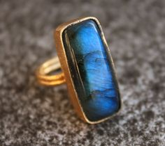 Cobalt Blue Labradorite Ring