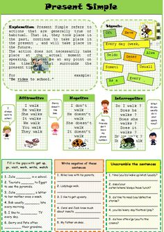 present simple activities - Primary