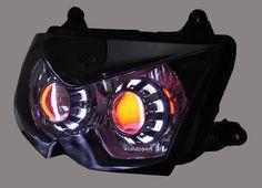 Kawasaki Ninja 250R Custom Headlight 2008-2012 - Angel/Demon Eyes + HID
