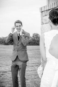 #Wedding #Bride #Vintage #BlackAndWhite #Nerves #FirstLook #Groom #VeraWang #Birdcage #Flowers #Blue #Hydrangeas