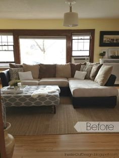 How To Re-Cover A Microfiber Sectional - I absolutely hated the microfiber our sectional was made of, but we didn't have the money for a new couch. So I decided…