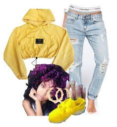 """Just Another Popular Weirdo"" by melaninprincess-16 ❤ liked on Polyvore featuring Calvin Klein Underwear, Billabong, Versace and Balmain"