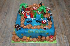 lekker zoet: Mario en Luigi taart voor Kai  15 jaar