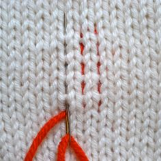 Weaving in ends on knit items: a compendium of excellent techniques