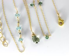 Layering Necklaces Aquamarine Necklace Birthstone by julwelry, $33.00