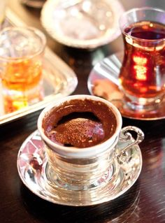 Turkish coffee  Yum, best coffee, can't wait to go back to turkey just to have them again
