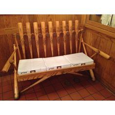Baseball bat bench....this would be sooooo cool with bats (even signed if possible) by each season of kids that Ralph has coached!