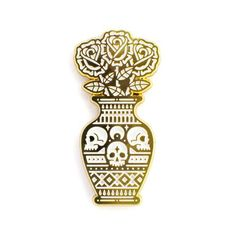 """So still it may as well be dead 1.5"""" soft enamel pin goldfinish double postsfor..."""