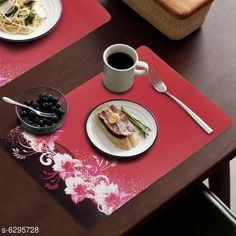 Table Runner Classy Dining Table Place Mats  Material: PVC Pack: Pack Of 6 Pattern: Printed length: 44 cm breadth: 29 cm height: 1 cm Country of Origin: India Sizes Available: Free Size   Catalog Rating: ★4.1 (2678)  Catalog Name: Classy Dining Table Place Mats CatalogID_999879 C129-SC1127 Code: 212-6295728-693