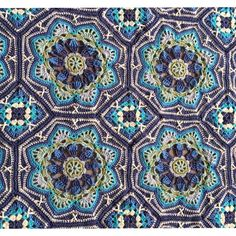 Stunning Persian Tiles Blanket made by Sara Thornhill-Crush. This is a Jane Crowfoot design.