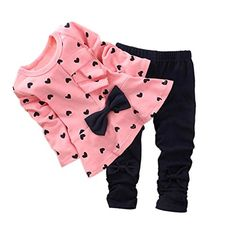 ASHERANGEL Baby Girl Cute 2pcs Set Children Clothes Suit Top and Pants Pink Age(2T) - Top's Size Chart: Age(2t):Length:14.3″,Shoulder:7.8″,Sleeve:11.3″ Age(3t):Length:14.7″,Shoulder:8.6″,Sleeve:12.5″ Age(4t):Length:15.5″,Shoulder:9.1″,Sleeve:13.3″ Pant's Size... - http://ehowsuperstore.com/bestbrandsales/clothing/asherangel-baby-girl-cute-2pcs-set-children-clothes-suit-top-and-pants-pink-age2t