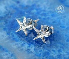 starfish silver stud earrings, starfish earrings, everyday earrings, starfish studs, starfish, greek jewelry, greek, goddess jewelry, greek by GreekGoddessJewelry on Etsy https://www.etsy.com/listing/263022743/starfish-silver-stud-earrings-starfish