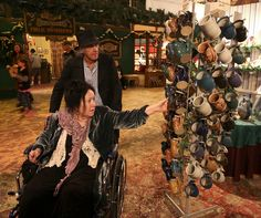 Pete Sears, of Jefferson Starship and Moonalice, with wife and cowriter Jeannette, shopping at Xavier Gonzalez Ceramics