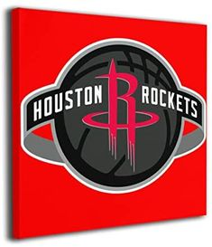 LOCPM LICOPC Houston-Rockets Painted On Canvas Wall for Office Home Decor Pictures Modern Artwork Hanging for Living Room Decorations Ready to Hang Framed Paintings Shopping World, Online Shopping Stores, Canvas Artwork, Wall Canvas, Nba Store, Modern Artwork, Home Decor Pictures, Bathroom Kids, Houston Rockets