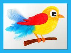 Bricolage oiseau à découper et coller