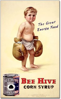 10 Funny Vintage Ads Starring Kids...Extra energy while building castles of triglycerides.