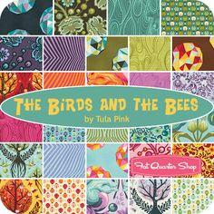The Birds and the Bees / Tula Pink / Free Spirit Fabrics -- note to self: open a wholesale account with Free Spirit already