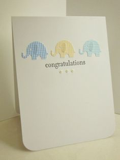A cute little baby boy card