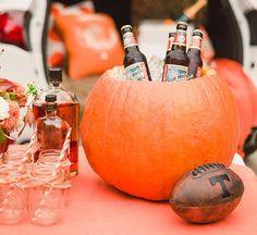 A Halloween Fall Table Decor Idea: Make a Pumpkin Cooler! | The Kitchn