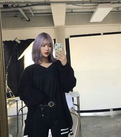 """тнe ѕтarѕ aren'т enoυgн тo ѕнobfgjhgg w нow вιg ιѕ мy love ғor yoυ, вυт ιғ y… Hair Inspo, Hair Inspiration, Korean Hair Color, Look Fashion, Fashion Outfits, Ulzzang Korean Girl, Uzzlang Girl, Aesthetic Hair, Purple Hair"