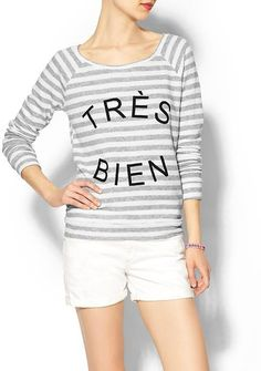 Pin for Later: These Tops Will Give You Something to Talk About  Pim + Larkin Très Bien Sweatshirt ($49)