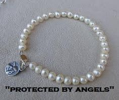 I'm selling Pearl Bracelet with Guardian Angel. - £5.99 #onselz