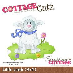 Cottage Cutz-Easter Series-4x4 Die-Little Lamb