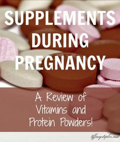 Not sure which protein supplements and vitamin supplements to take while you are pregnant? This post has good recommendations and reviews from TiffanyStaples.com #pregnancy #prenatal #vitamins #proteinpowder #supplements #mommytobe #maternity