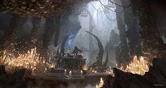 2012  |  Concept art  |  Video Game Demo  |  The Dark Sorcerer (Quantic Dream)  |  Cave 01