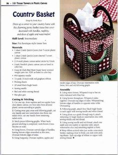"""Country Basket Tissue Cover"" Watermelon Apples ( 1/6 )"